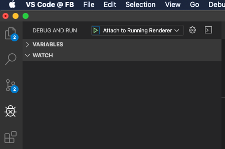 Attach From Visual Studio Code